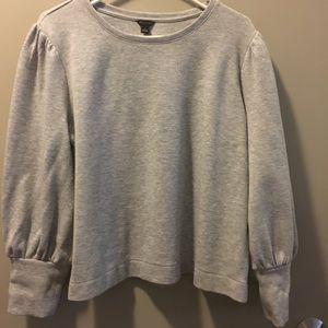 Gray puff sleeve sweatshirt